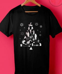 Harry Potter Christmas Tree Silhouette T Shirt