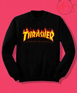 Thrasher Magazine Fire Flame Crewneck Sweatshirt