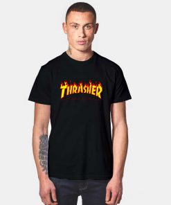 Thrasher Magazine Fire Flame T Shirt