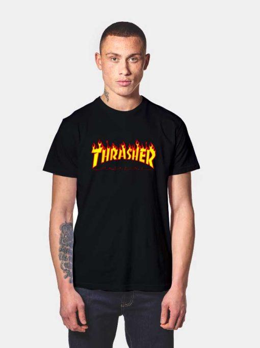 Thrasher Magazine Fire Flame T Shirt