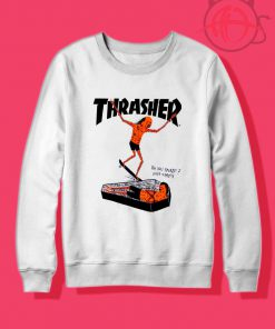 Thrasher Neck Face Crewneck Sweatshirt