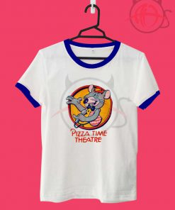 Pizza Time Theater Chuck E Cheese Unisex Ringer T Shirt