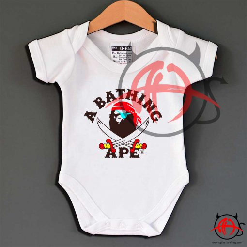 A Bathing Ape Pirates Baby Onesie