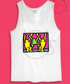 American People Dancing Pop Art Style Unisex Tank Top