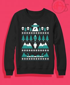 Alien Paranormal Christmas Crewneck Sweatshirt