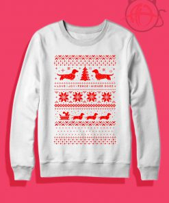 Dachshunds Christmas Ugly Crewneck Sweatshirt