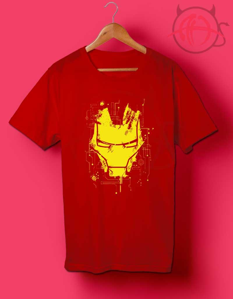 iron man face t shirt