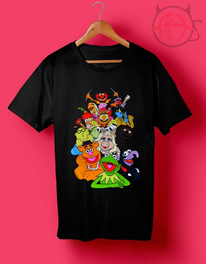 Boys Black and White T Shirt with /'Muppets/' picture