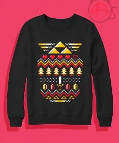 Triforce Holiday Ugly Christmas Crewneck Sweatshirt