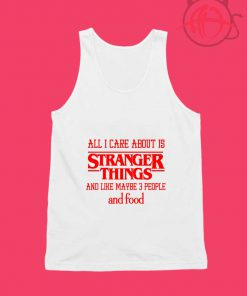 Stranger Things All About Care Foods Unisex Tank Top