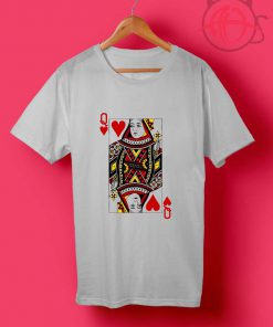 Queen Of Hearts Playing Card T Shirts