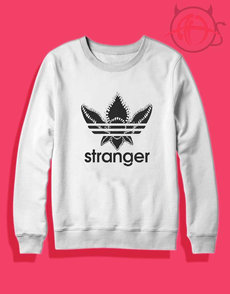 Trend Fashion Stranger Things Adidas Inspired Crewneck Sweatshirt