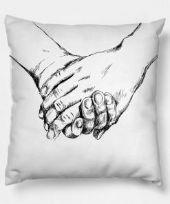 Holding hands Pillow Case