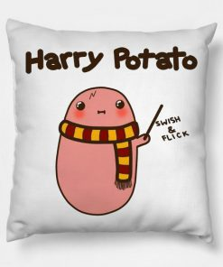 Kawaii Potato Potter Parody Pillow Case