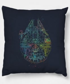 Millenium Falcon Painted Schematic Pillow Case