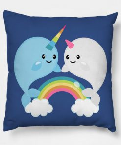 Rainbow Narwhals Pillow Case
