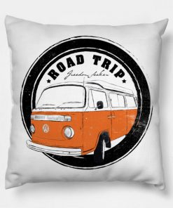 Road Trip Kombi Van Pillow Case