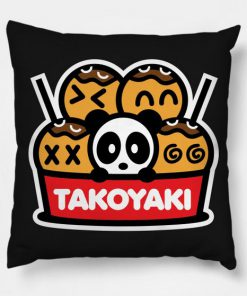 Takoyaki Panda Bambu Pillow Case
