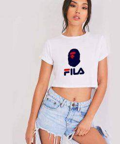 A Bathing Ape BAPE x FILA Collaboration Crop Top Shirt