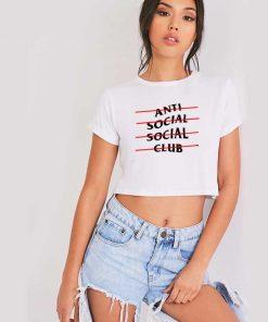 ASSC Anti Social Social Club Line Crop Top Shirt