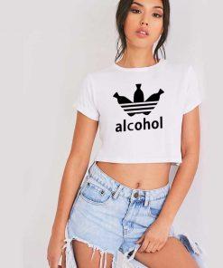 Adidas Parody Alcohol Crop Top Shirt