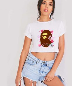 BAPE A Bathing Ape Sakura Crop Top Shirt