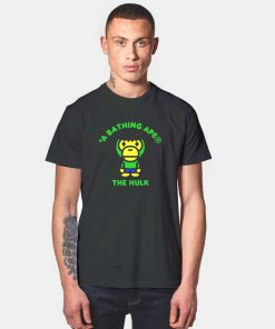 Bape A Bathing Ape x Marvel Hulk T Shirt