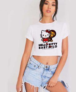 Bape Hello Kitty Crop Top Shirt
