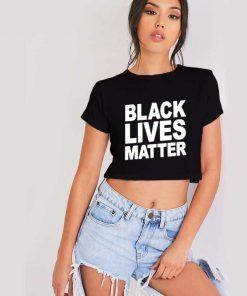 Black Lives Matter Crop Top Shirt