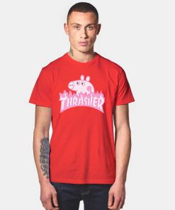 Peppa Pig X Thrasher Parody Red
