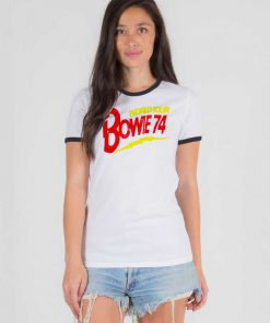World Tour Bowie 74 Ringer Tee
