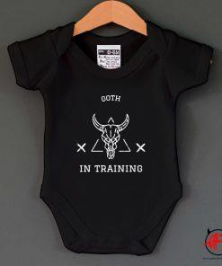 Goth In Training Baby Onesie