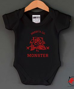Roses Daddy's Lil Monster Baby Onesie