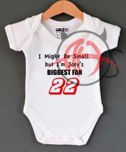Joey Logano Biggest Fan Funny Novelty Baby Onesie