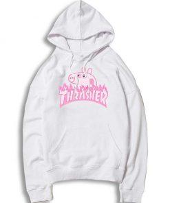 Peppa Pig X Thrasher Parody Hoodie