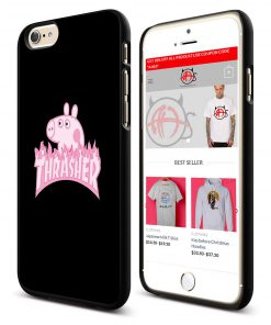 Peppa Pig X Thrasher Parody iPhone Cases