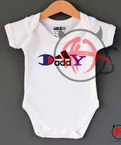 Daddy Champion Brand Parody Baby Onesie