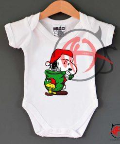 Santa Snoopy Christmas Baby Onesie