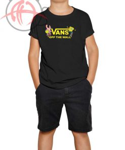 Vans Spongebob Squarepants Collaboration Yellow Youth T Shirt