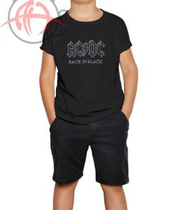 ACDC Black in Black Youth T Shirt