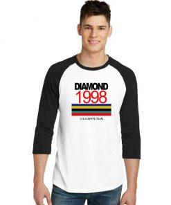 Diamond 1998 USA Skate Sleeve Raglan Tee