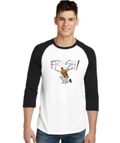 Fresh Prince Spray Sleeve Raglan Tee