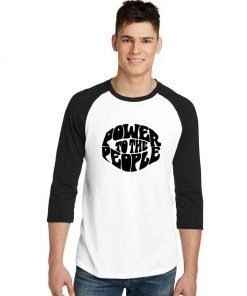 Power To The People Sleeve Raglan Tee
