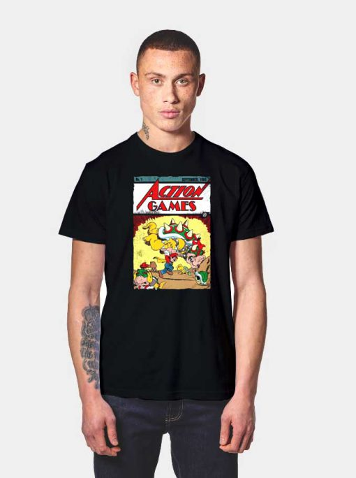 Mario Retro Action Games T Shirt