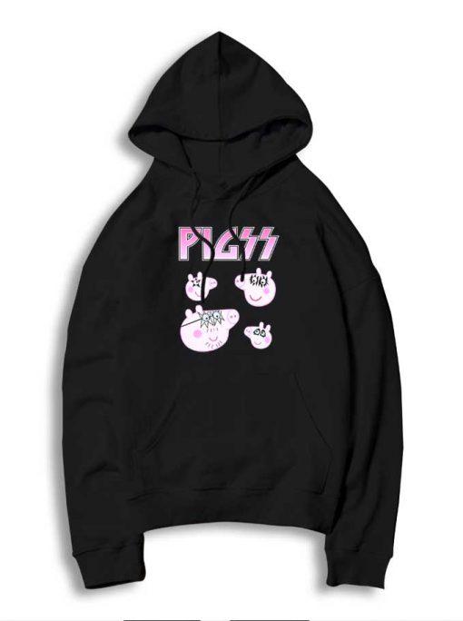 Heavy Metal Group Peppa Pig Logo Hoodie