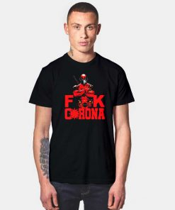 Marvel Deadpool Fuck Corona Logo T Shirt