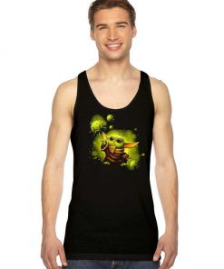 Baby Yoda And The Force Of Coronavirus Tank Top