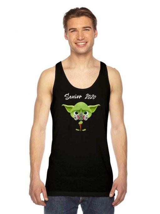 Baby Yoda Senior 2020 Mask Logo Tank Top