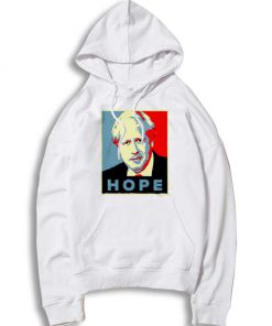 Boris Johnson Hope Vector Retro Hoodie
