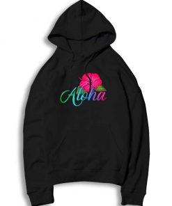From The Island Feel The Aloha Flower Hoodie